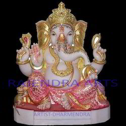 Ganesh Gold Plated Statue