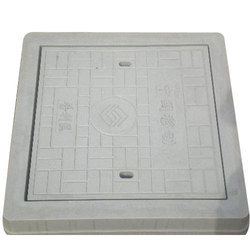 Grey Concrete Sqaure Manhole Cover