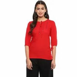Yash Gallery Women's Rayon Top