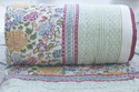 Multi Color Handmade Printed Kantha Quilt