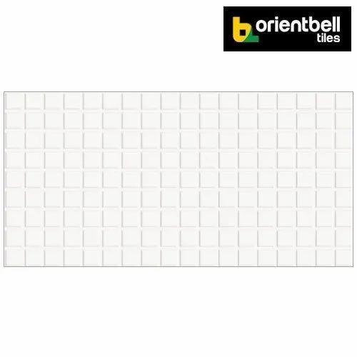 Orientbell Gft Grand Starwhite Glossy Digital Wall Tiles, Size: 300x600 mm