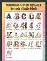 Gloss Sublimation Acrylic Alphabet Key Chains / Key Rings