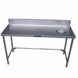 Sara Refrigeration Stainless Steel Dish Landing Table, For Commercial Hotel, Model Name/Number: S-9