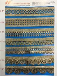 Polyester And Nylon Cut Work Embroidery Laces, Width/Thickness : 25-100/1-2 mm