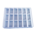 White Plastic Sweet Packaging Tray