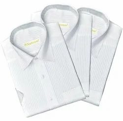 NATIONAL Formal Wear Stripped Full Sleeve Cotton Shirt, Handwash, Size: 36 To 44