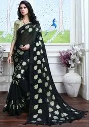 Black Fancy Party Wear Saree