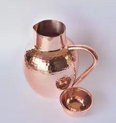 Copper Hammered Jug, Size: 600 g