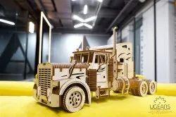 Natural Wooden Wood Heavy Boy Truck