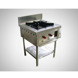 1 Stainless Steel Single Burner Gas Stove, Model Name/Number: Edm, Size: 60X60