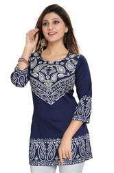 3/4th Sleeve Womens Tunic Tops