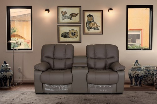 Exotica 2 Seater Leather Console Recliner Sofa At Rs 75990 Piece
