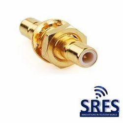 SMB Male Bulkhead Connector For Rg 174 , Rg 316