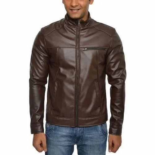 345ef733c Mens Pu Leather Jacket