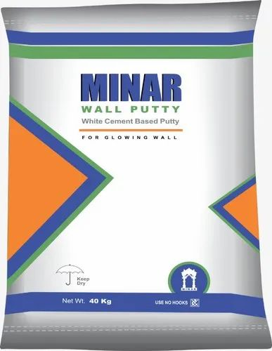 Minar Wall Putty, Packaging Type: Bag, Packaging Size: 40 Kg