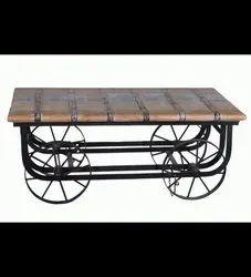 Wood Industrial Coffee Table