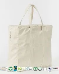 Natural Recycle Organic Cotton Calico Bag