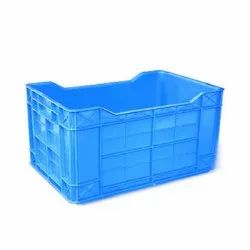 Rectangular Industrial Plastic Crate, Capacity: 44 Litre
