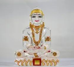 Mahavir Swami Statue Of Natural Crystal -7 Inch