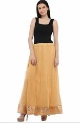 Beautiful Beige Readymade Skirt
