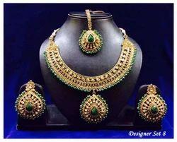 Designer Dark Green Necklace Set