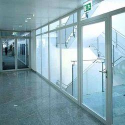 Aluminum Glass Door Partition