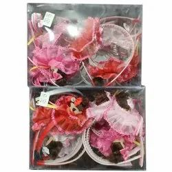 Party Wear Designer Flower Hair Band, Packaging Size: 12 Piece