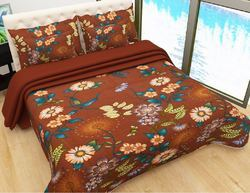 Saathi textiles Printed Polyester Bed Sheet