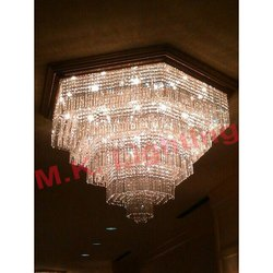 Hexagon Shaped Crystal Chandelier