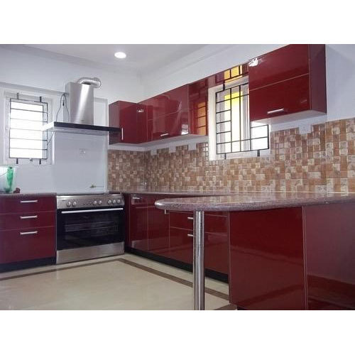 Aluminium Modular Kitchen At Rs 1100 Square Feet: Laminated Modular Kitchen At Rs 1100 /square Feet