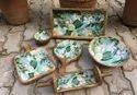 Wooden Enamel Ware Serving Tray
