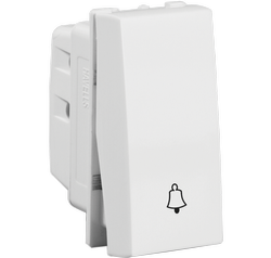 White Havells 10 A Bell Push Electrical Switch