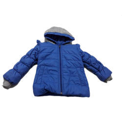 Kids Blue Hooded Jacket