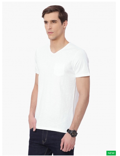 ab08276c52ca Men UCLA Solid Pocket V-Neck Slim Fit T-Shirt, Rs 699 /piece | ID ...