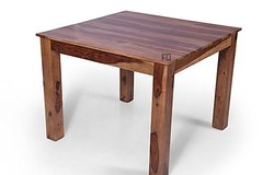 Wood Brown Wooden Dining Table 39*39*30, Packaging Type: Export Packing, Packaging Size: 40*40*10 Inch