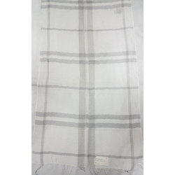 Cotton Linen Yarn Dyed Check Shawls