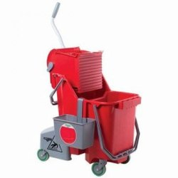 Smart Color Dual Bucket Trolley Unger