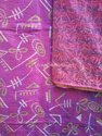 women's printed silk kantha embroidery scarf