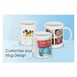 TCG Multicolor Personalized Printed Ceramic Sublimation Mug, For Gifting, Size: Standard