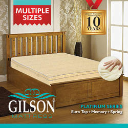 Gilson Platinum Series 6 inch Memory Foam Mattress ( Euro Top)