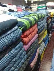 58 Inch Cotton Checks Shirting Fabrics