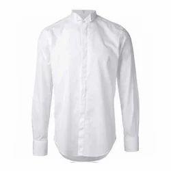 White, Plain Mens Cotton Shirt