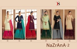 Designer Embroidered Georgette Gharara Suits
