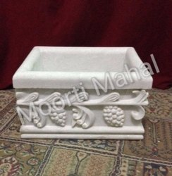 Marble Rectangular Planter