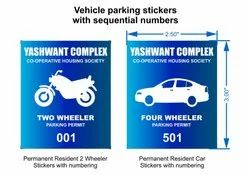 CAR PARKING STICKERS, Packaging Type: Packet