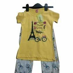 Women Casual Wear Ladies Cotton Pyjama Set