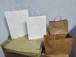 Rope Handle Craft Paper Shopping Carry Bag, For Textiles Or Super Market, Capacity: 8 Kg