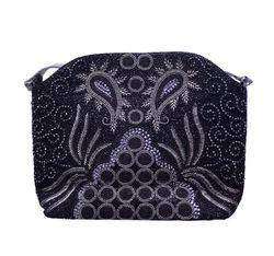 Party Wear Ladies Black Hand Bag