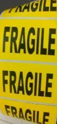 Fragile Printed Label