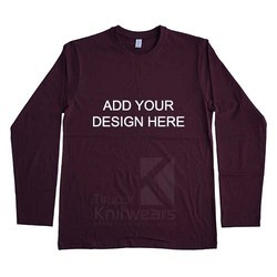 Custom Round Neck Full Sleeve T Shirt